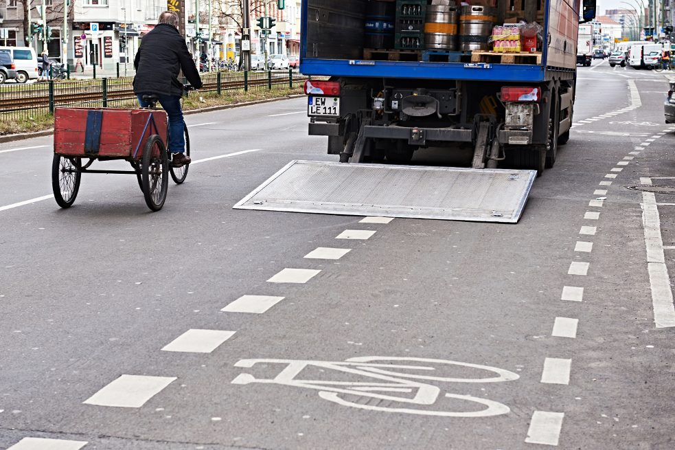 Parking in bicycle lanes