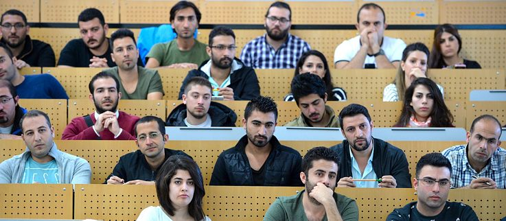 150 refugees from diverse countries start university in Bremen in 2016. In autumn 2018, they will be joined by Ahmad Al Zoubi.