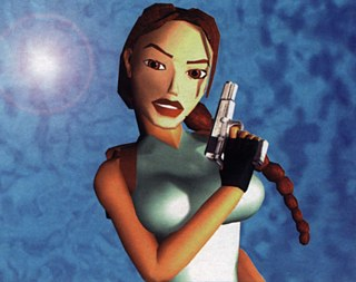 "Lara Croft from ""Tomb Raider"" in the 1990s."