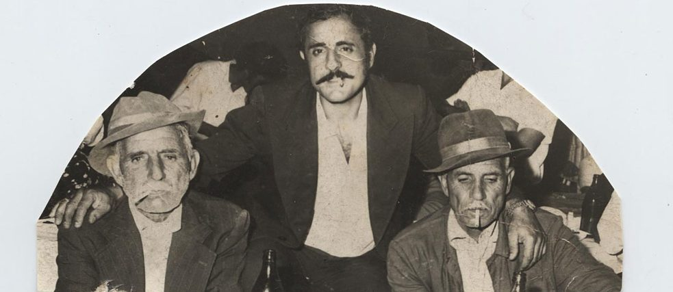The man on the left is the grandfather of the author, the man on the right is his younger brother. The man in the middle is the author's cousin. The picture was taken in the 1960s-1970s in Provadiya. Typical of this group is that in the nineteenth century they were Christian Romani-speaking nomadic Roma, but that they converted to Islam and changed their language form Romani to Turkish.