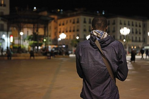 Omar at Martyrs' Square, Algiers, in an evening of Ramadan.