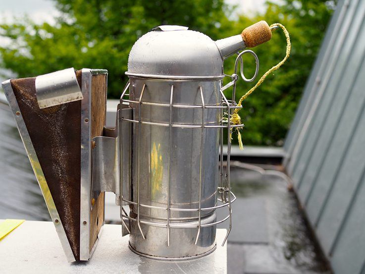 The smoker device used to calm the bees