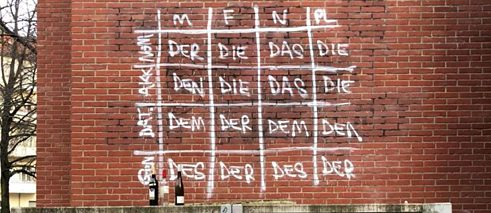 German grammar lesson graffiti