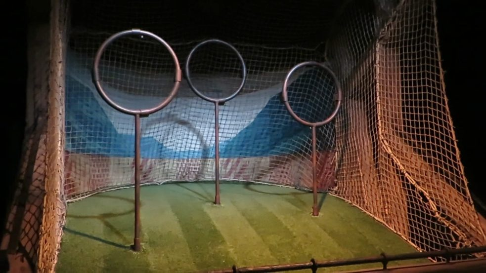 Harry Potter Fans can score at Quidditch.