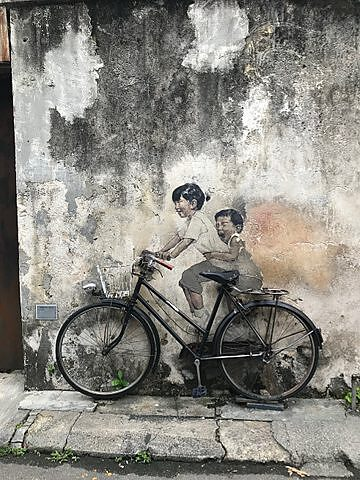 """Kids on Bicycle"" made Ernest Zacharevic famous."
