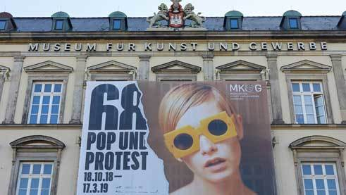 "Exhibition ""1968. Pop and Protest"" at the Museum für Kunst und Gewerbe"