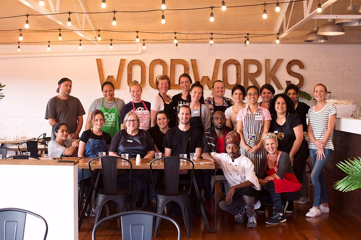 The team of volunteers at Everybody Eats on the Wednesday night the writer visits in October 2018