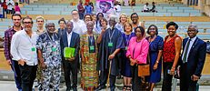 "Architects and scientists at the symposium ""Decolonizing the Campus"" in Lagos"