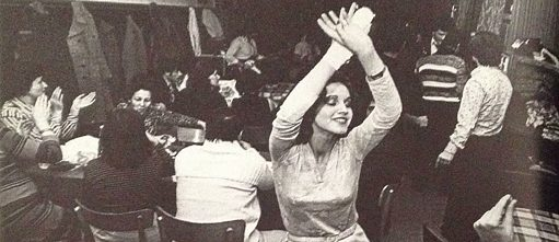 A woman dancing at a Turkish club in the North Rhine-Westphalia region of Germany in 1982.