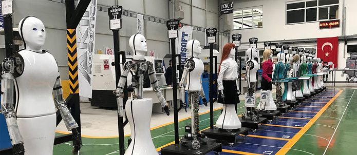 Model ADA GH5 humanoid robots in Turkey.