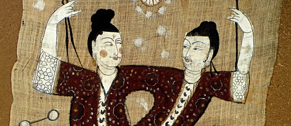 Fuxi and Nüwa, mid 8th century (Tang Dynasty, Ausschnitt)