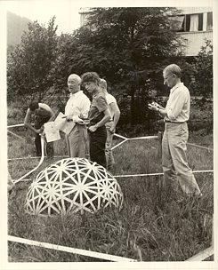 A former Bauhaus master at Black Mountain College: Josef Albers, on the right.