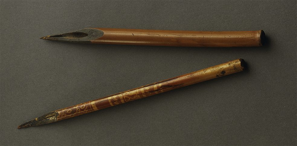 The Egyptians, Romans and Copts – all of antiquity wrote primarily with a reed pen, usually fashioned out of a water reed.