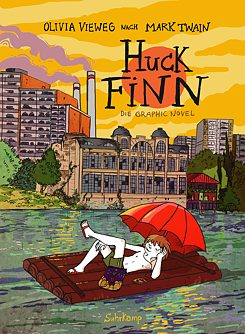 An adaptation of a Mark Twain classic: Olivia Vieweg's Huck Finn boards a raft on the Saale River with plans to float down to the Elbe River and on to Hamburg.