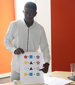 Adou Sow during a Workshop in Dakar