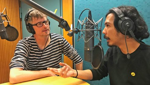 Ali Johan at Radioeins in conversation with moderator Steen Lorenzen