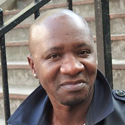 The writer Wilfried Nsonde