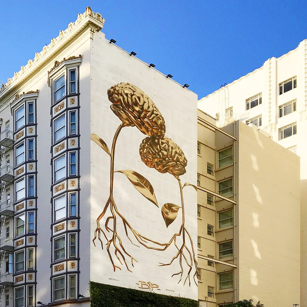 "#artbits - BiP ""Figuring"" Mural,  Geary St. between Jones & Taylor in San Francisco"