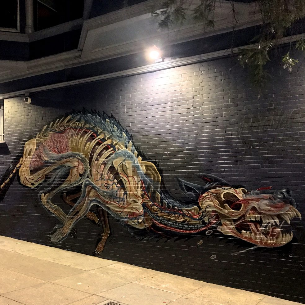 "#artbits - ""Wolf"" by Nychos, Graffiti in Haight & Ashbury, San Francisco"