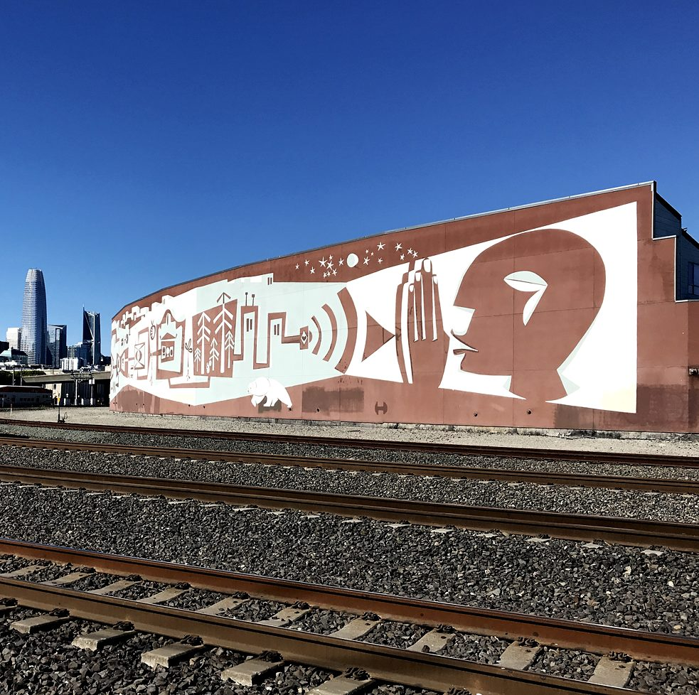 "#artbits - Brian Barneclo ""Systems"", Townsend Str. & 7th Str. Mission Bay in San Francisco"