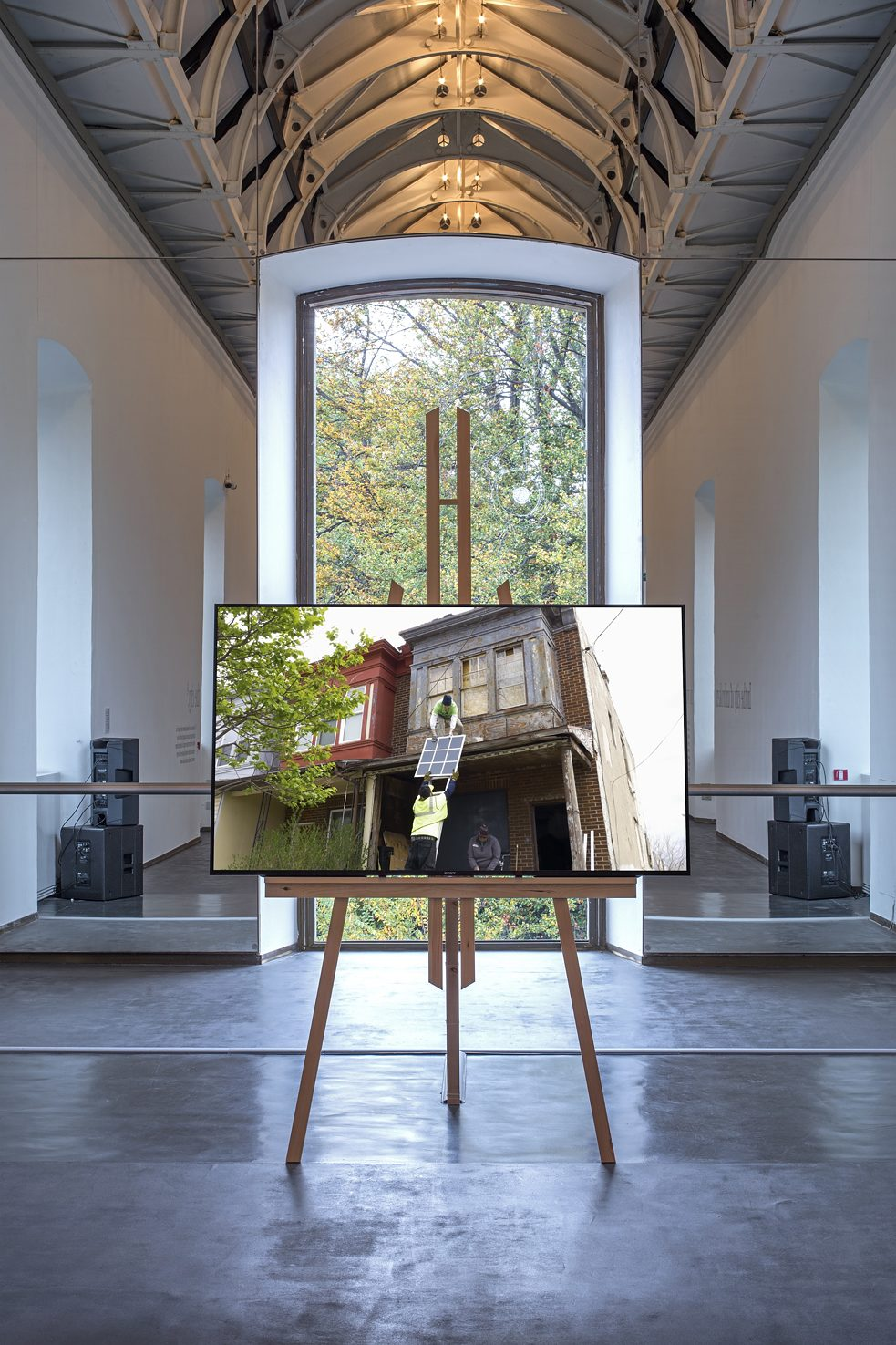 <i>Hito Steyerl. The City of Broken Windows</i> – Castello di Rivoli – Museo d'Arte Contemporanea, Rivoli (Torino) – Veduta della mostra, 2018