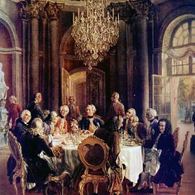 King Frederick II round table in Sanssouci