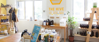 The Hive offers a wide range of products from food to cosmetics and household goods.