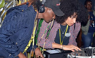 "DJ Rachael and Sarah Farina put on some music at ""Mirembe Rhythm"" in Kampala, organized by Goethe-Zentrum  Kampala"