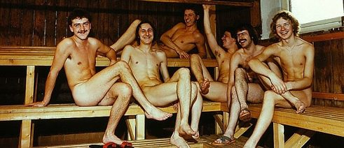 Männer in der sauna