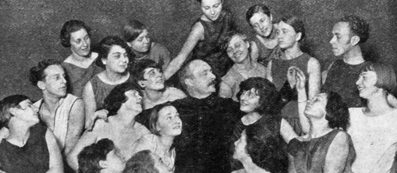 Rudolf von Laban amongst his pupils (ca. 1929)