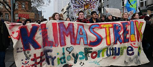 Front banner of the FridaysForFuture Demonstration 25-01-2019 Berlin