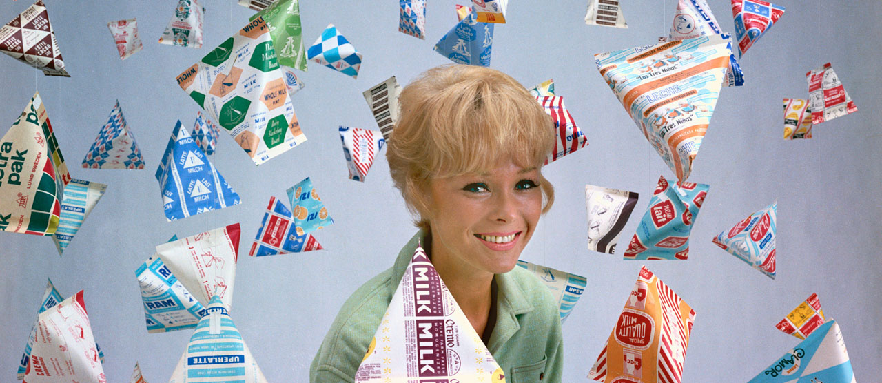 A promotional photo from the 1960s shows the large selection of packaging