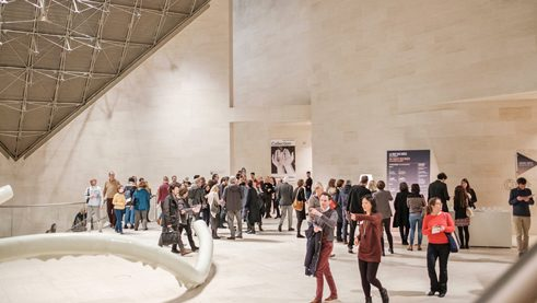 More than 300 visitors came to Luxembourg's Mudam for the Night of Ideas