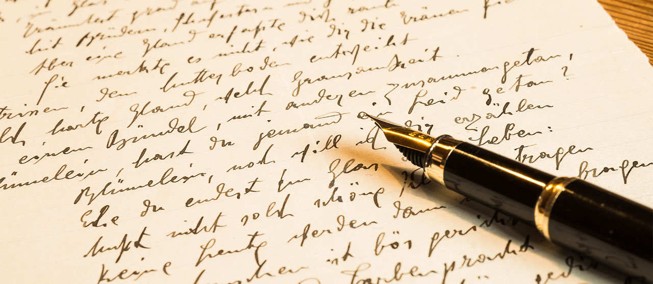 In Europe, the simple quill pen developed into a sophisticated writing instrument: the fountain pen.
