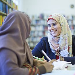 Language Students in the Library of the Goethe-Institut Cairo