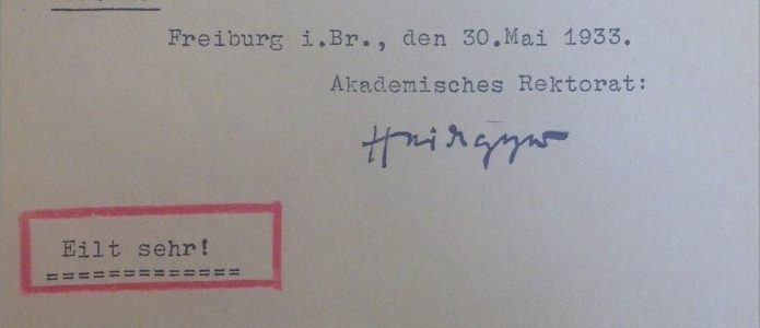 Martin Heideggers 'Schwarze Hefte': Philosophie, Antisemitismus und Nationalsozialismus | University Archives, Albert-Ludwigs-Universität Freiburg, file B1/3986