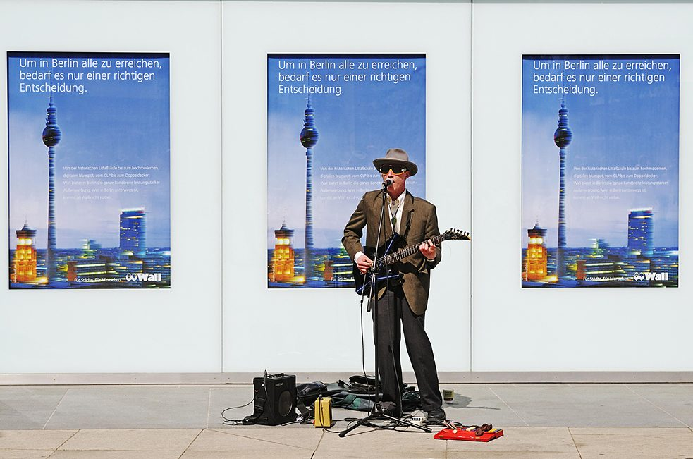 Busker in Berlin.