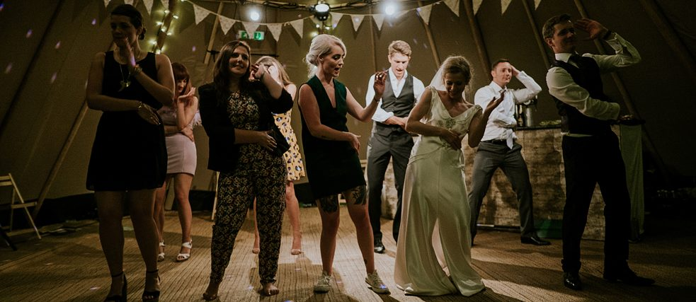 Dance at a wedding in Wales