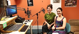 Sophie Heggemann and Sabrina Wolf are recording 'Goethe on Air'