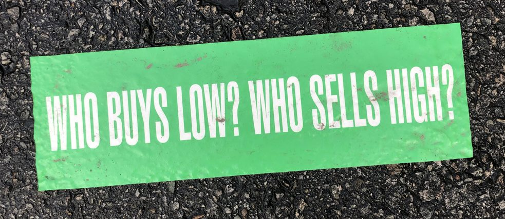 Who buys low?