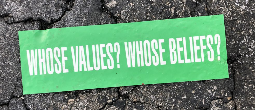 Whose values?