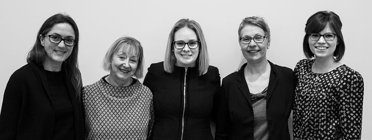 Photo team GAPP 2019-left to right: intern Luisa Grahlow, Program Manager Stefanie Proessl, Executive Director Molly Rowland, Administrative Assistant Helga Lehmann, Project Assistant Olga Duchniewska