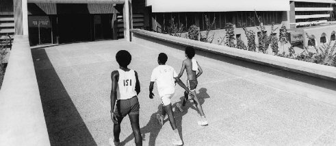 Arieh Sharon and Eldar Sharon, University of Ife (Obafemi Awolowo University), Ile-Ife, Osun, Nigeria, late 1960s
