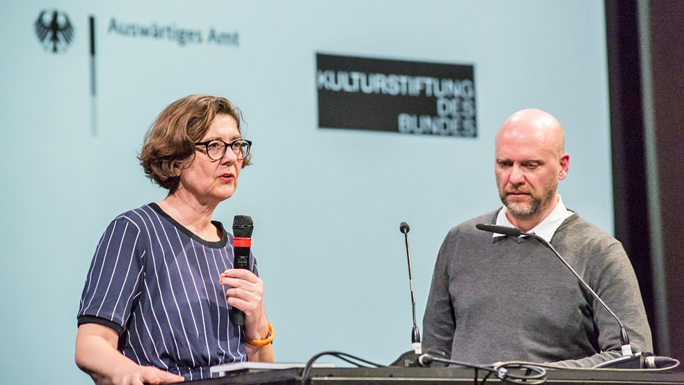 """If we understand the Bauhaus as a school in the world, it can no longer be described as a masters' story"", says curator Marion von Osten. Photo: Laura Fiorio/HKW"