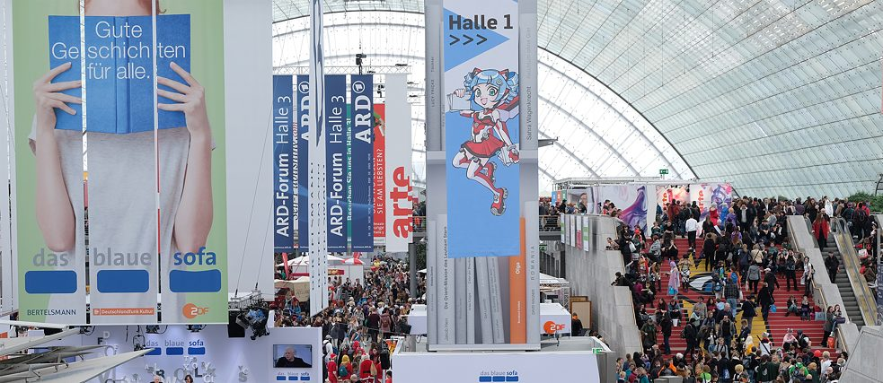 The Leipzig Book Fair attracts hundreds of thousands of visitors every year.