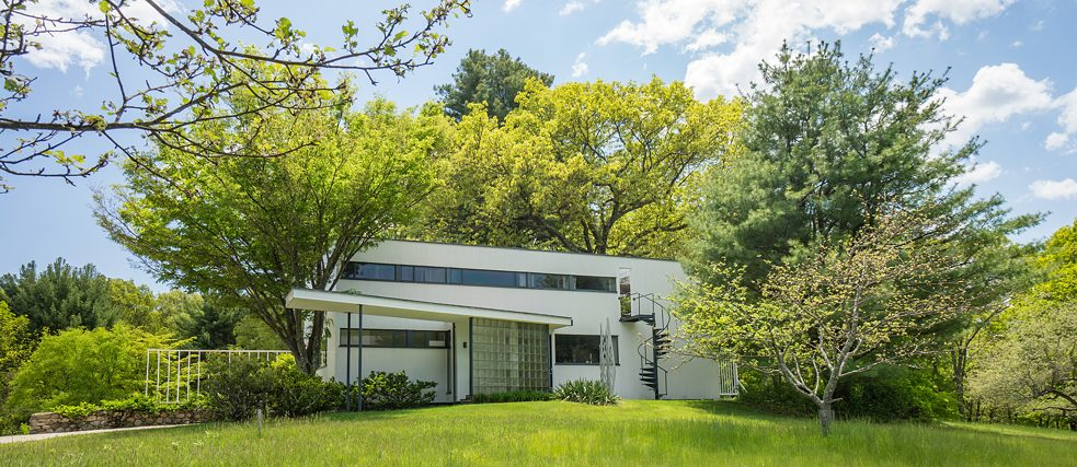 Gropius House, Lincoln (exterior north elevation spring)