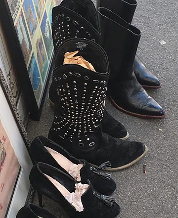 Shoes and boots for sale.