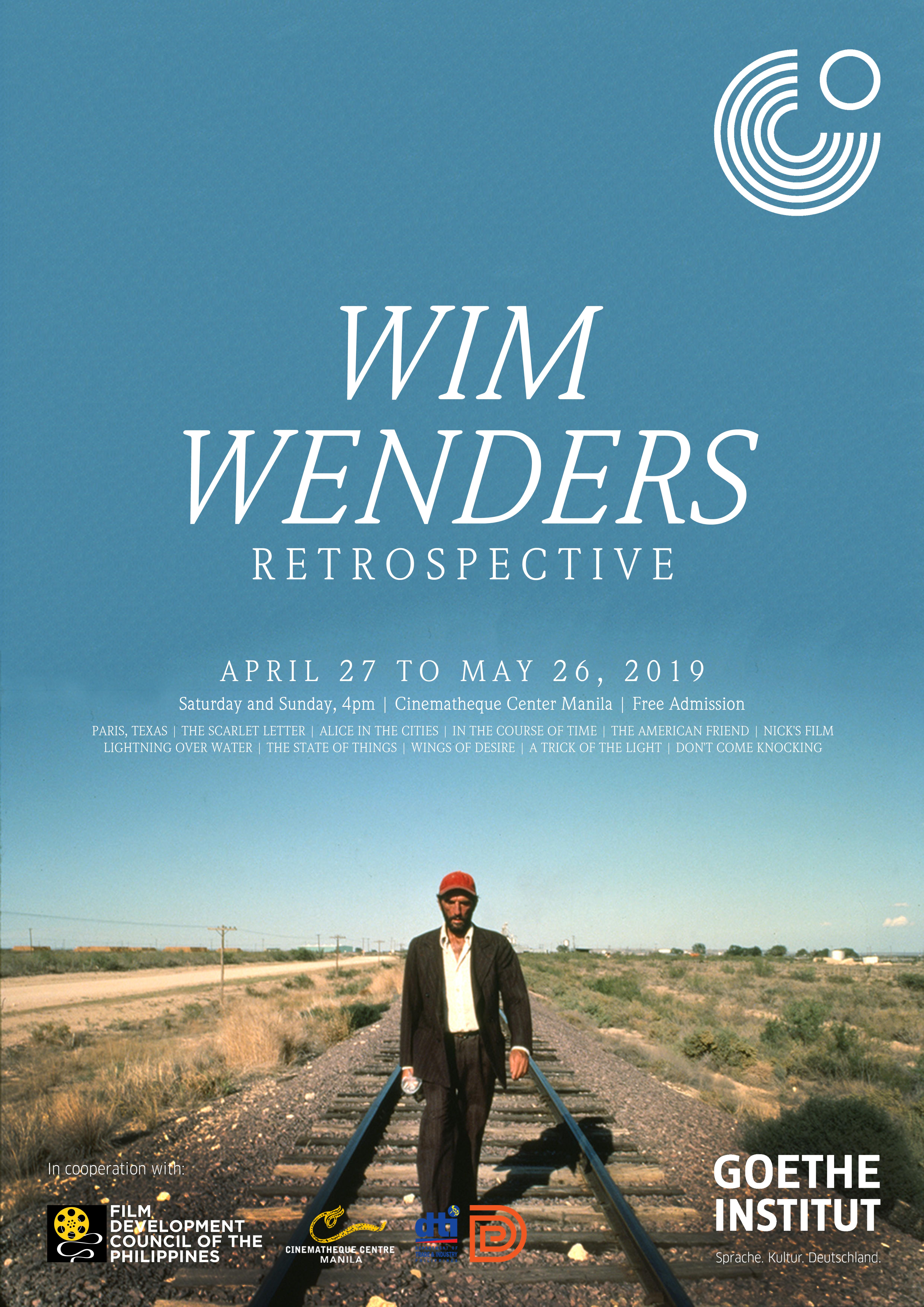 Press - Wim Wenders Retrospective - Goethe-Institut Philippinen