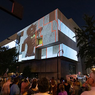 URBANSCREEN on the Public Library during the opening of the Deutschlandjahr