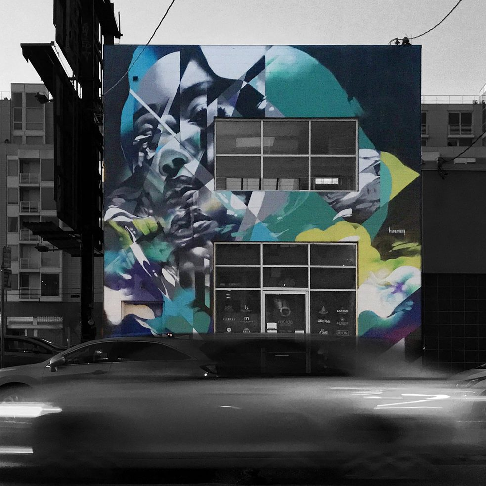 "#artbits - ""Wanderer"" by Hueman, Mural on Brannan St. & 4th St. in San Francisco"